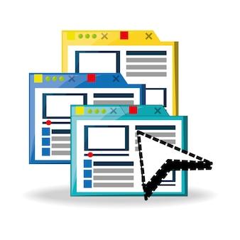 Piattaforma del sito web relativa a internet