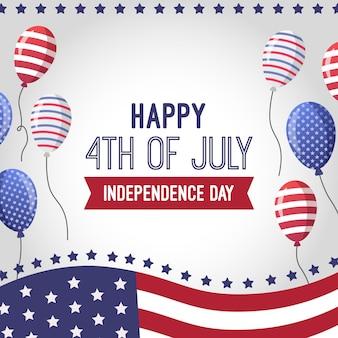 Piatto 4 luglio - festa dell'indipendenza palloncini sfondo