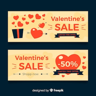 Piatto aperto regalo san valentino vendita banner