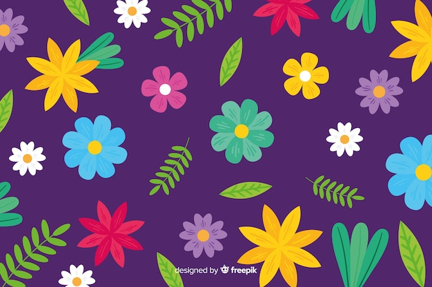 Piatto bellissimo sfondo floreale