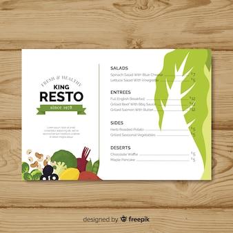 Piatto colorato cibo sano menu