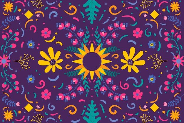 Piatto colorato sfondo messicano