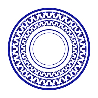 Piatto design, decorativo rotondo ornamentale in ceramica stile islamico, sfondo mandala