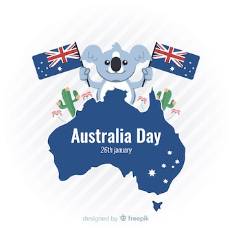 Piatto giorno australia sfondo