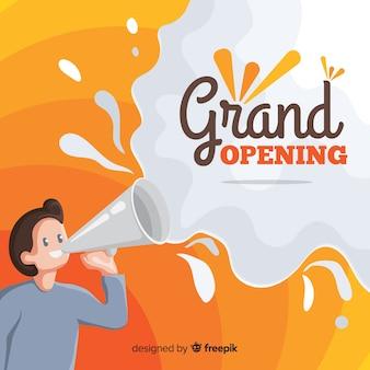 Piatto grande concetto di apertura