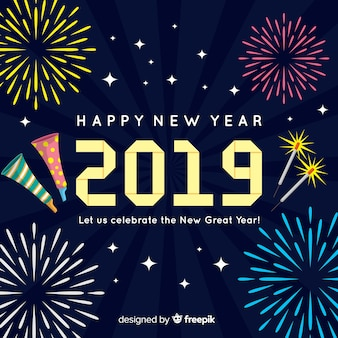 Piatto nuovo anno 2019 sfondo