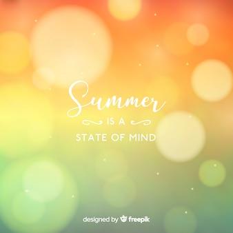 Piatto offuscata ciao estate sfondo