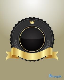 Piatto regale con un nastro d'oro