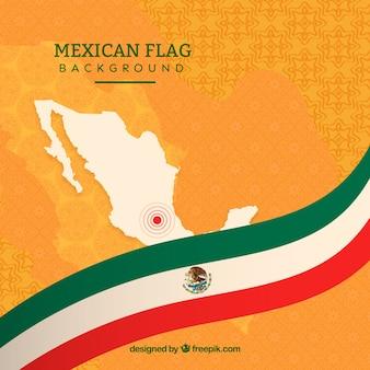 Piatto sfondo bandiera messicana