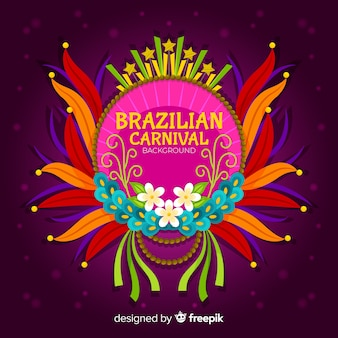 Piatto sfondo di carnevale brasiliano