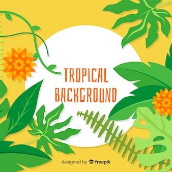 Piatto sfondo tropicale