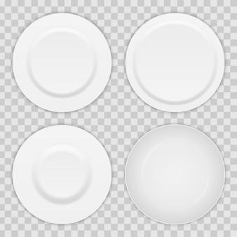 Piatto tondo, utensile per zuppa di porcellana, ciotola.