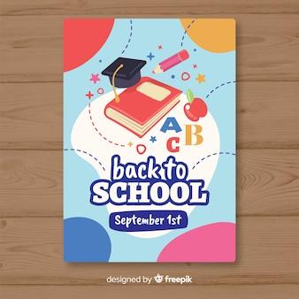 Piatto torna al modello di carta di scuola
