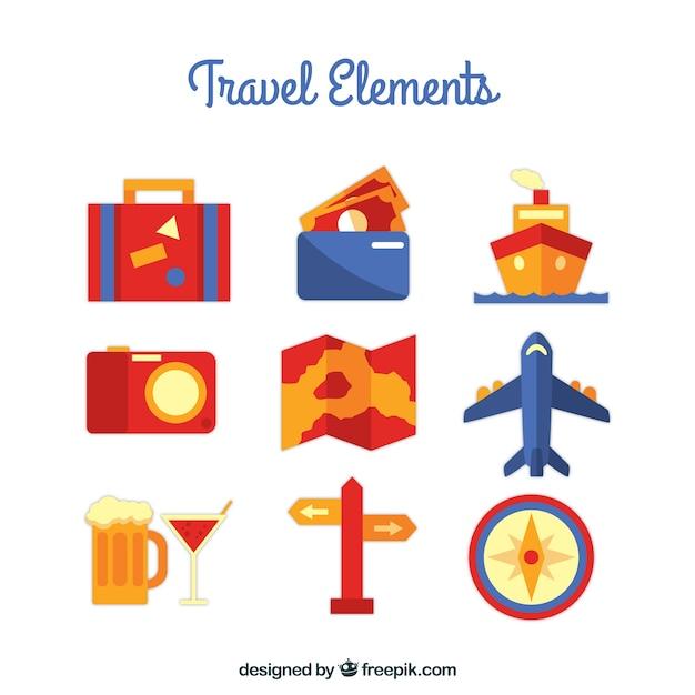 Piatto viaggi elements collection