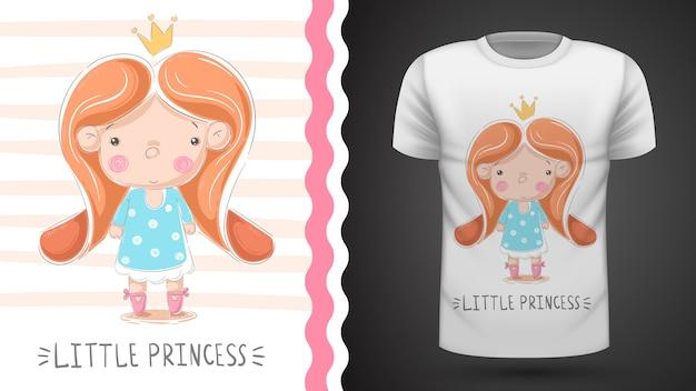Piccola principessa: idea per la t-shirt stampata