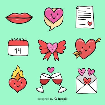 Piccola raccolta di elementi di san valentino