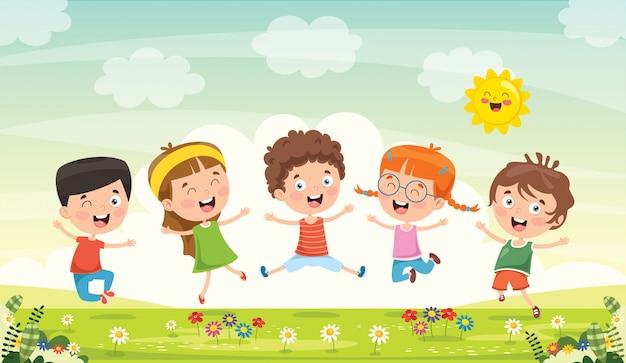 Piccoli bambini che si divertono insieme