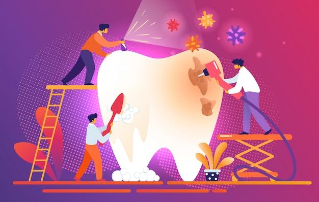 Piccoli dentisti puliti