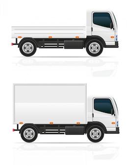Piccolo camion per l'illustrazione di vettore del carico del trasporto