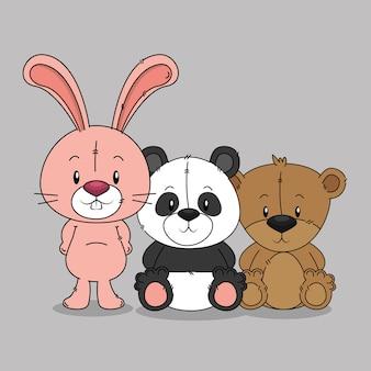 Piccolo gruppo di animali carini