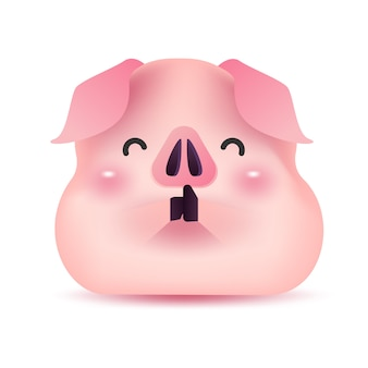 Piccolo maiale saluto personaggio per il capodanno cinese.