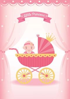 Piccolo passeggino principessa