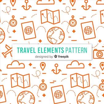 Piccolo sfondo di elementi di viaggio