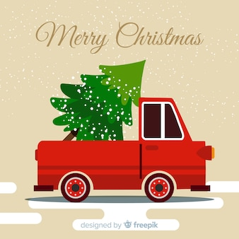 Pick-up con albero di natale