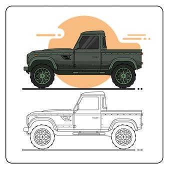 Pickup verde per auto
