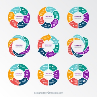 Pie grafici infografica
