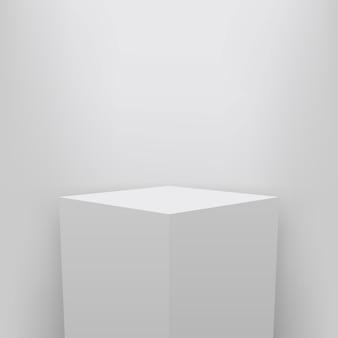 Piedistallo del museo, palcoscenico, presentazione del podio in 3d.