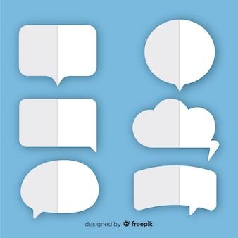 Piegato come bolle di discorso stile carta piatta