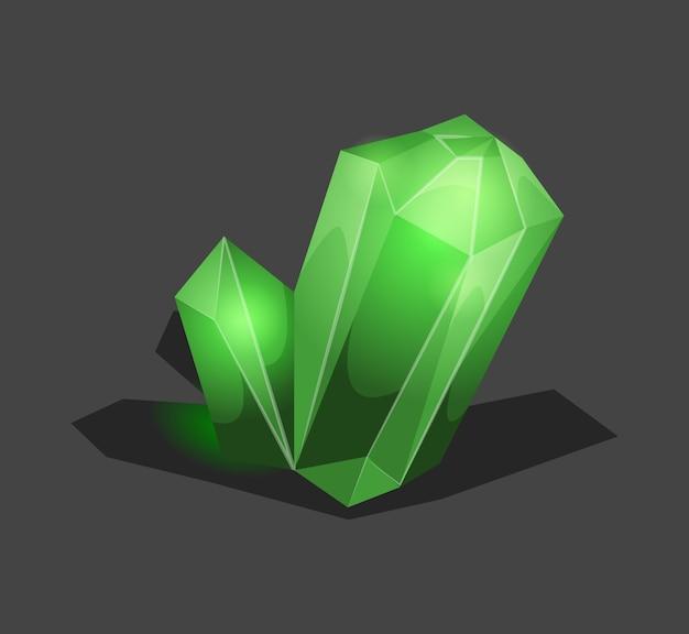 Pietra cristallina o gemma e gemma preziosa per gioielli. semplice simbolo di cristallo con riflessione.