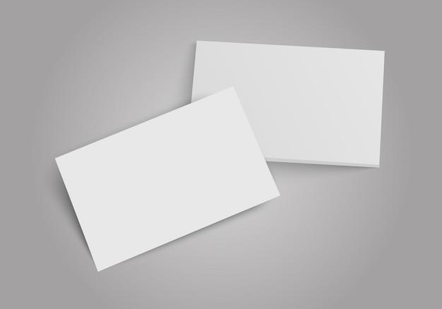 Pila di biglietti da visita. modello per l'identità del marchio. illustrazione piatta