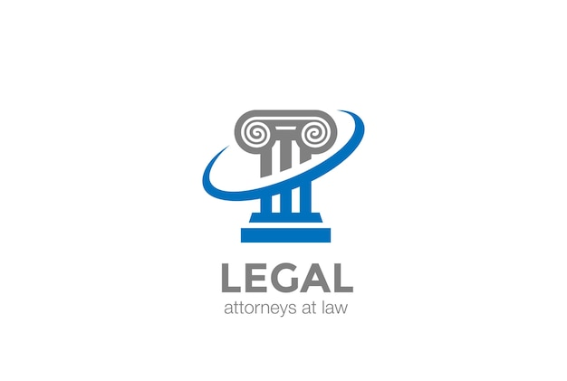 Pillar lawyer law logo.