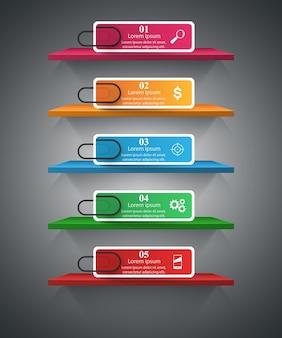 Pin affari infografica
