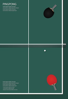 Ping pong poster template illustration