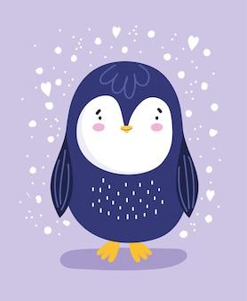 Pinguino con cuori
