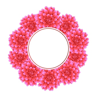Pink dahlia banner wreath style