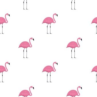 Pink flamingo seamless pattern di sfondo. illustrazione