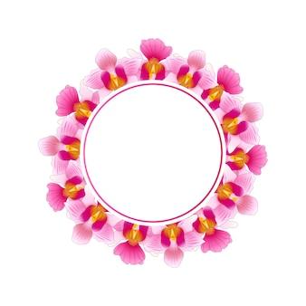 Pink vanda miss joaquim orchid banner wreath