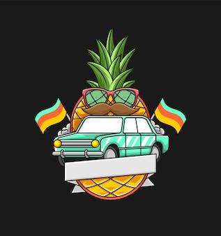 Pinneapple con badge auto