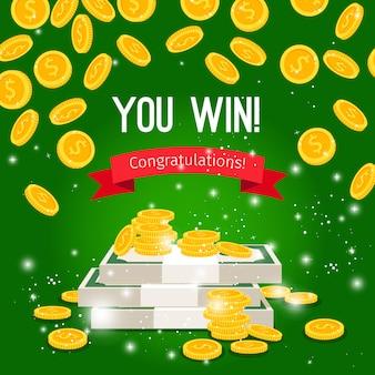 Pioggia di monete e firma per vincere sul green