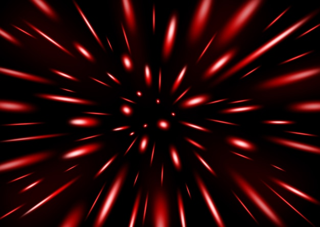 Pioggia di particelle di glitter rosso