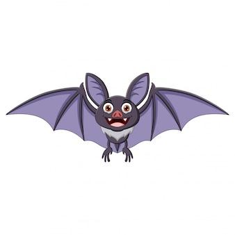 Pipistrello cartoon allargando le ali