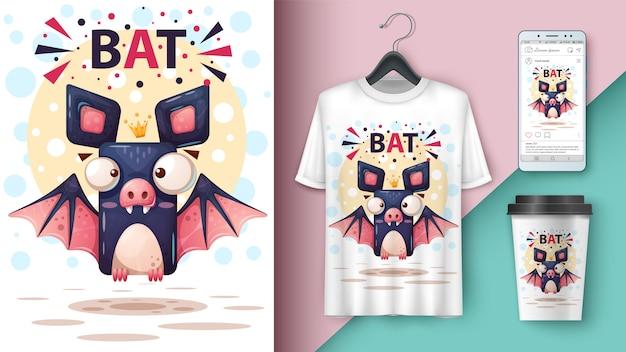 Pipistrello di cartone animato