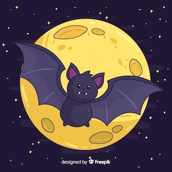 Pipistrello halloween disegnato a mano di lovley