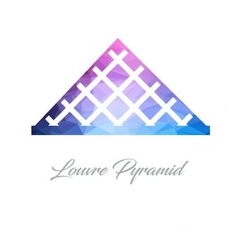 Piramide del louvre poligono