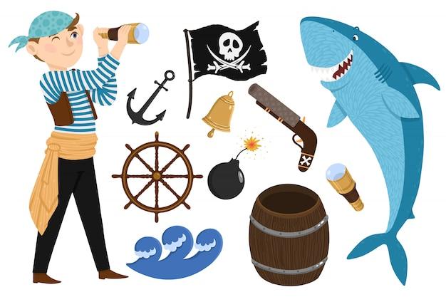 Pirata ambientato in stile cartone animato