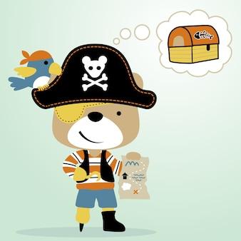 Pirata con mappa del tesoro